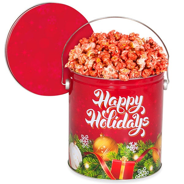 Holly Jolly Christmas Popcorn Tin 7267