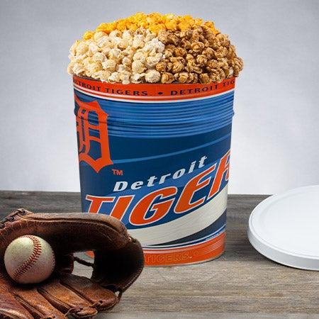 Mlb detroit tigers popcorn tin