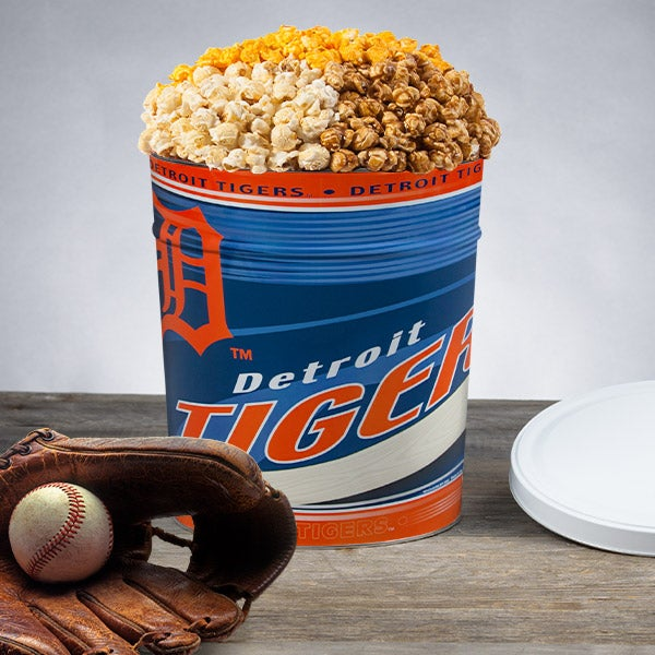 Detroit Tigers Popcorn Tin 7053