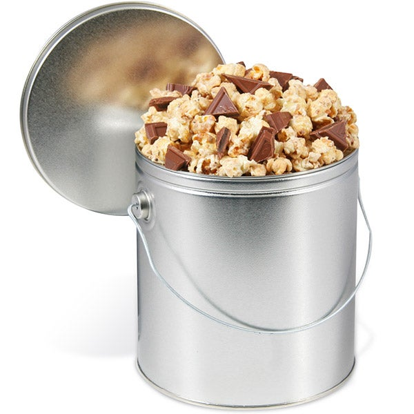Mint Cookie Popcorn Tin with Ghirardelli