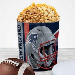 New England Patriots Popcorn Tin 7068