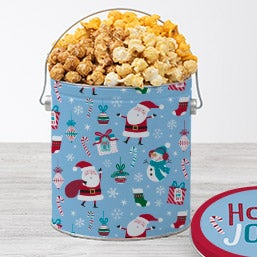 Stripes & Snowflakes Gourmet Popcorn Tin - (RETIRED)