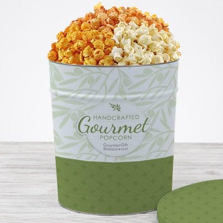 Triple cheddar popcorn tin 3.5 gal