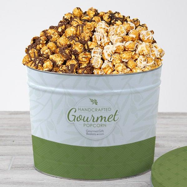 Triple Chocolate Caramel Popcorn Tin