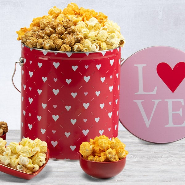 Valentine's Day Popcorn Tin 7250