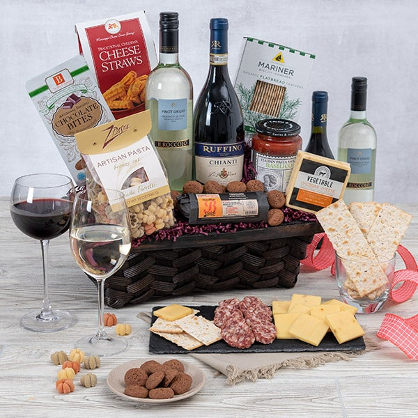 Valentines day gift baskets by gourmetgiftbaskets italian dinner for two 1367 negle Choice Image