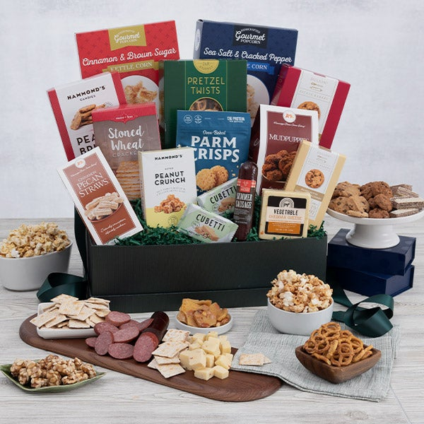 Snack Gift Basket Deluxe by GourmetGiftBaskets.com