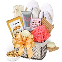 Bath & Snack Gift Basket