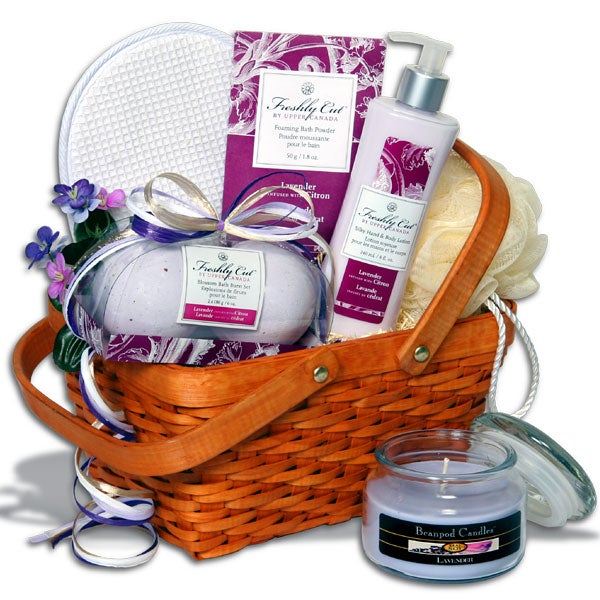 Candlelight Bubble Bath™ Spa Gift Basket - (RETIRED)