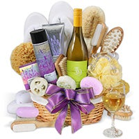 Premium Spa Wine Gift Basket (6283)