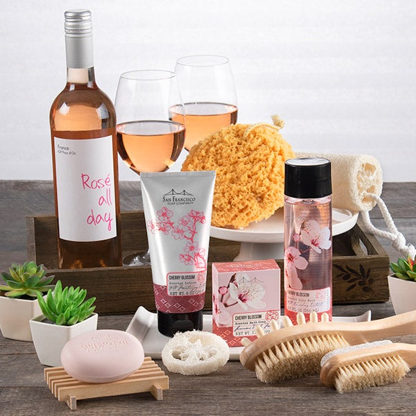 spa gift basket for women by gourmetgiftbaskets