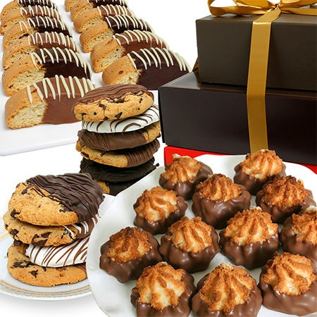 Belgian Chocolate Dipped Cookie Tower