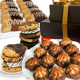Belgian Chocolate Dipped Cookie Tower (9034)