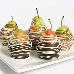 Belgian Chocolate Dipped Pears (9017)