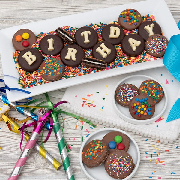 Happy Birthday Gift Tower By Gourmetgiftbaskets Com: Birthday Oreo® Cookies By GourmetGiftBaskets.com