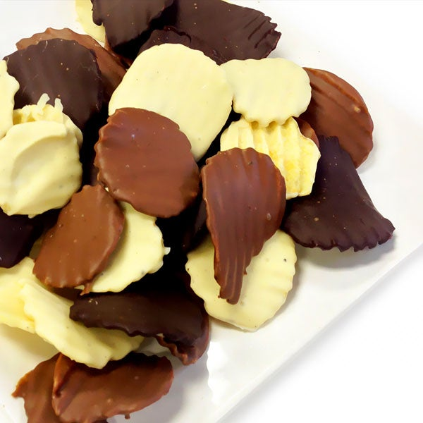 Belgian Chocolate Covered Potato Chips By