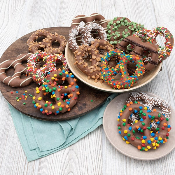 Gourmet Chocolate Dipped Pretzels by GourmetGiftBaskets.com