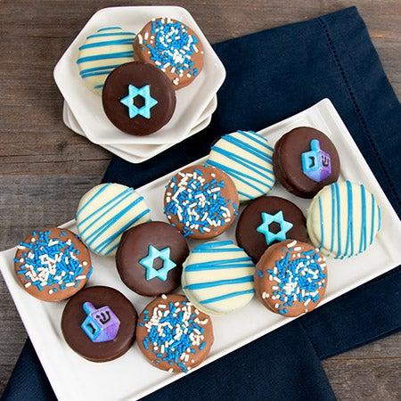 Happy Hanukkah Oreo Cookies