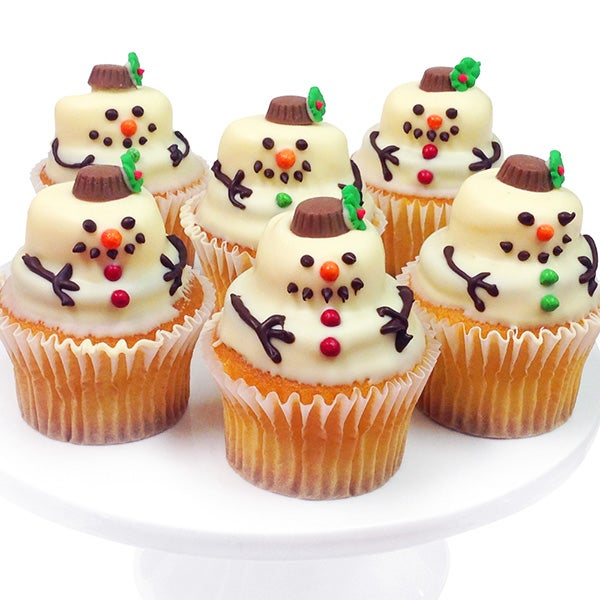 Snowman Belgian Chocolate Cupcakes $39.99