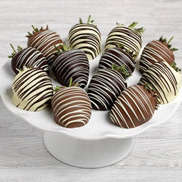 Triple Chocolate Dipped Strawberries