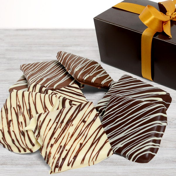 Triple Chocolate Dipped Graham Crackers by GourmetGiftBaskets.com