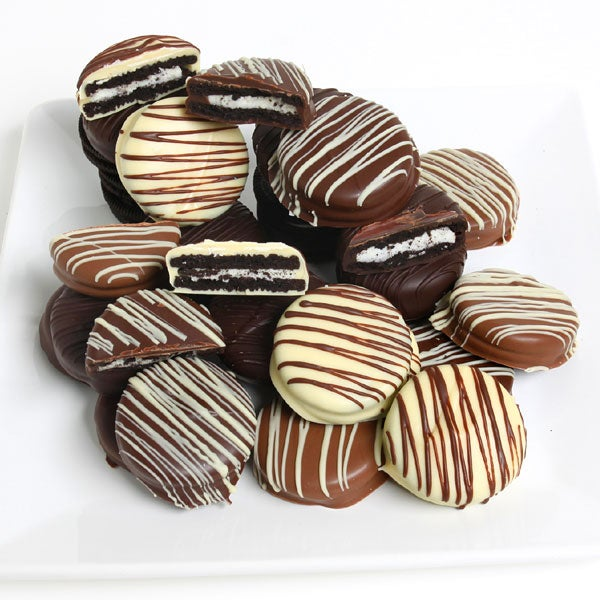 Triple Chocolate Dipped Oreo Cookies By Gourmetgiftbaskets Com