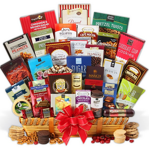 Snack & Chocolate Deluxe Gift Basket