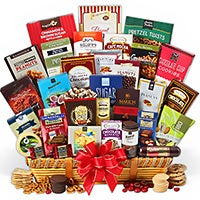 Snack & Chocolate Gift Basket - Deluxe (4103)