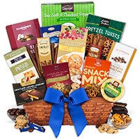 Snack & Chocolate Gift Basket - Premium