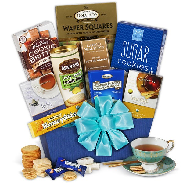 Mothers day gift baskets gifts for mom by gourmetgiftbaskets tea ampamp cookies gift basket classic negle Image collections