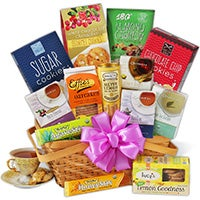 Tea & Cookies Gift Basket Premium (5082)