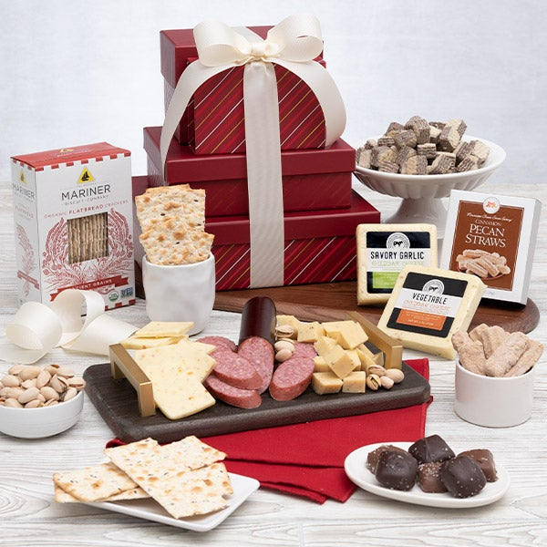Happy Birthday Gift Tower By Gourmetgiftbaskets Com: What's Cookin, Chicago: Last Minute Food Gifts