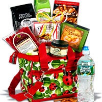 Ladybug Insulated Tote Gift Basket - (RETIRED) (5787)