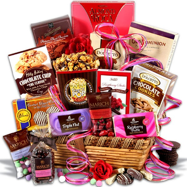 Chocolate dreams valentine 39 s day gift basket by for Great gifts for valentines day for her