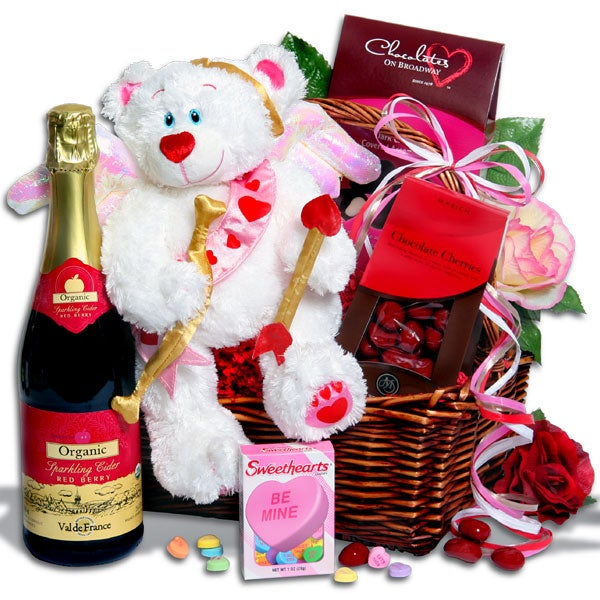 Cupids aiming for you - Valentines day gift basket