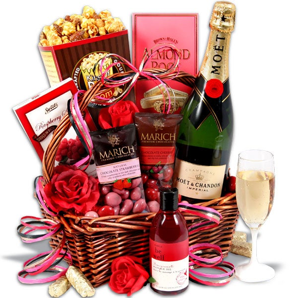 Evening of Indulgence - Valentines day gift basket
