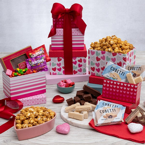 From The Heart Gift Tower By GourmetGiftBaskets.com