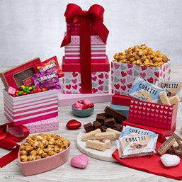 from the heart gift tower - Valentines Day Gift Basket Ideas