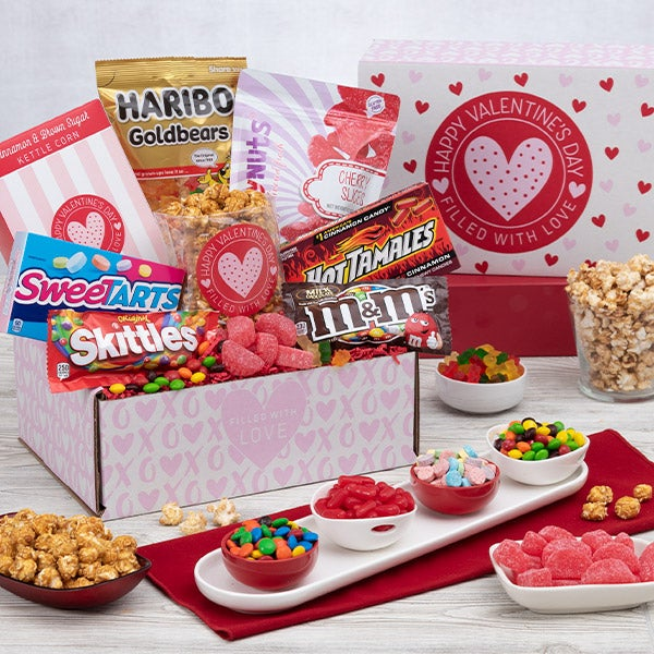Sending all my love care package - Valentines day gift basket