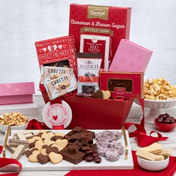 Teddy Bear & Chocolates Valentine's Day Gift Basket (1328)