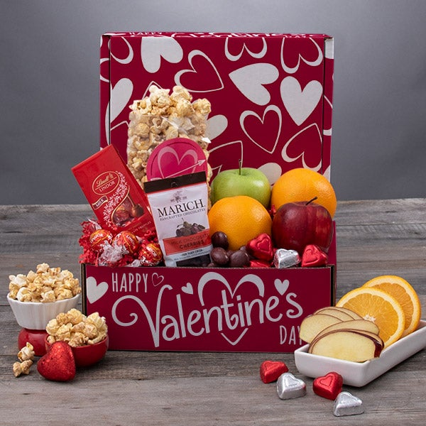 valentines day fruit basket - Valentines Day Gift Basket Ideas