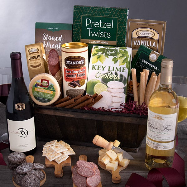 how to make a wine gift basket