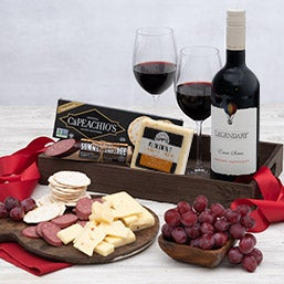 Red Wine Countryside Gift Crate