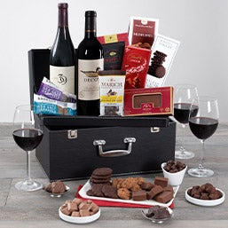 Red Wine Duo & Chocolate Suitcase (5108)