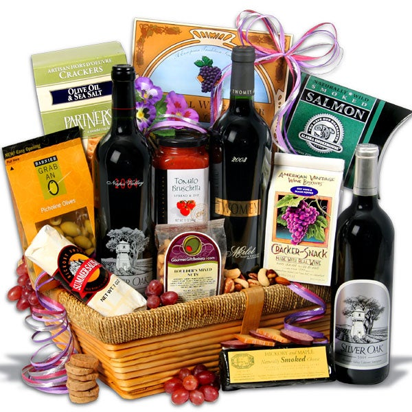 Silver oak showcase wine - Valentines day gift basket