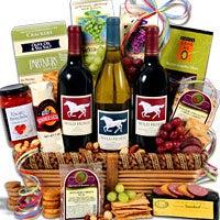 Wild Horse Trio - Wine Gift Basket (5089)