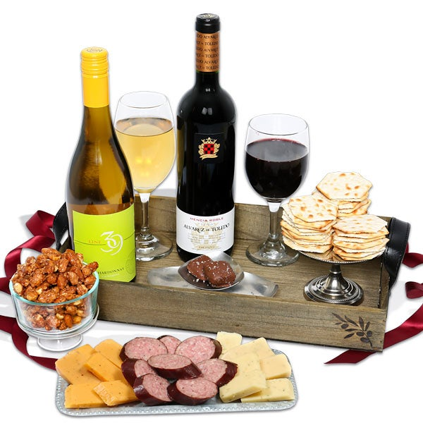 Wine gift baskets by gourmetgiftbaskets wine party picnic gift basket negle Image collections