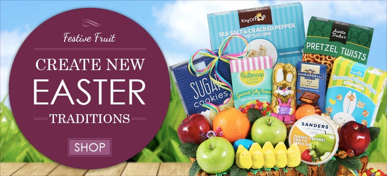 Easter Fruit Gift Baskets
