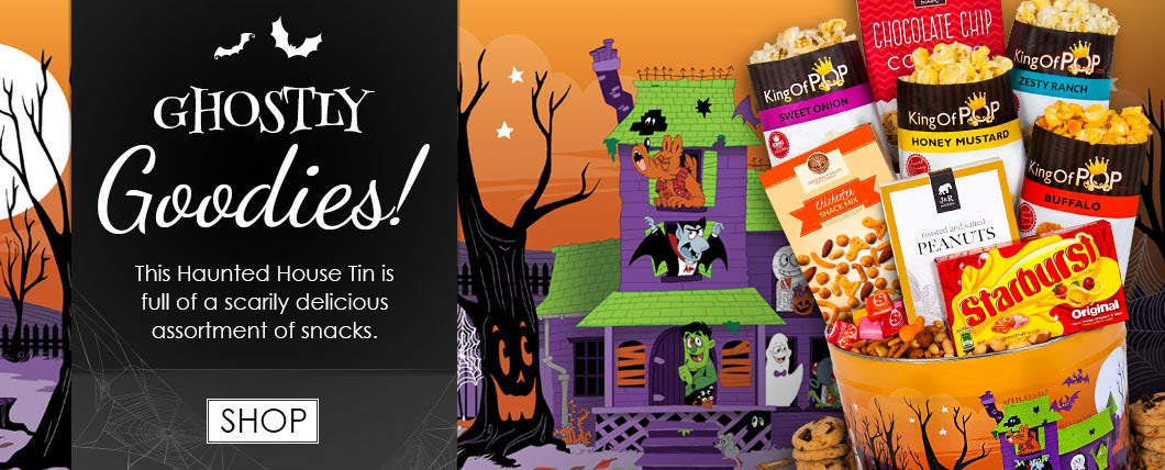 Halloween Haunted House Snack Tin